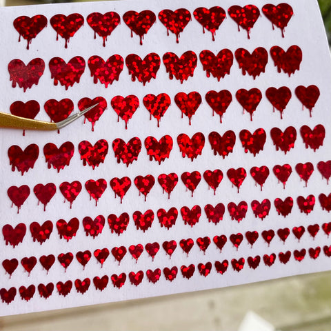 Dripping Heart Vinyl Nail Stickers