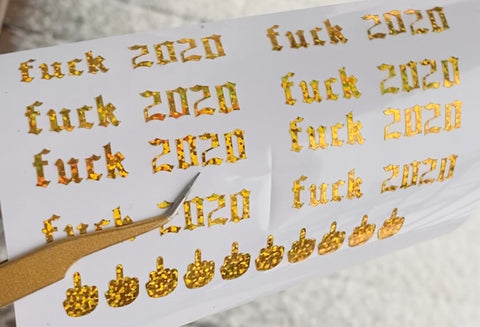 Fuck 2020 nail stickers