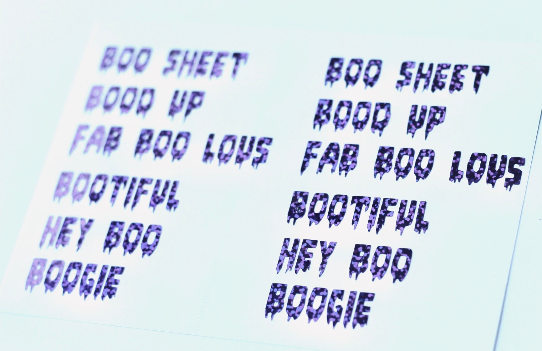 """Boo"" Phrases Nail Stickers"
