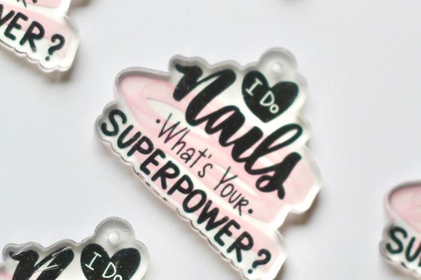 """Superpower"" Acrylic Charm"