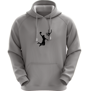 Dunk Man - Universal Youth Performance Hoodie - Stone Gray