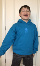 Load image into Gallery viewer, Universal Youth Performance Hoodie - Ocean Blue