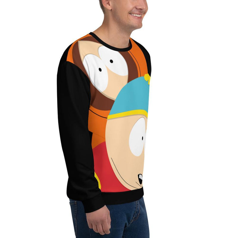 South Park Cartman & Kenny Adult All-Over Print Sweatshirt