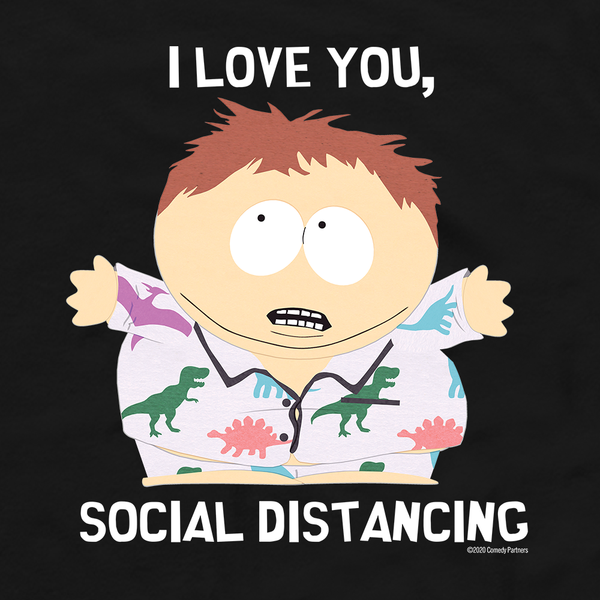 South Park I Love You Social Distancing Fleece Hooded Sweatshirt