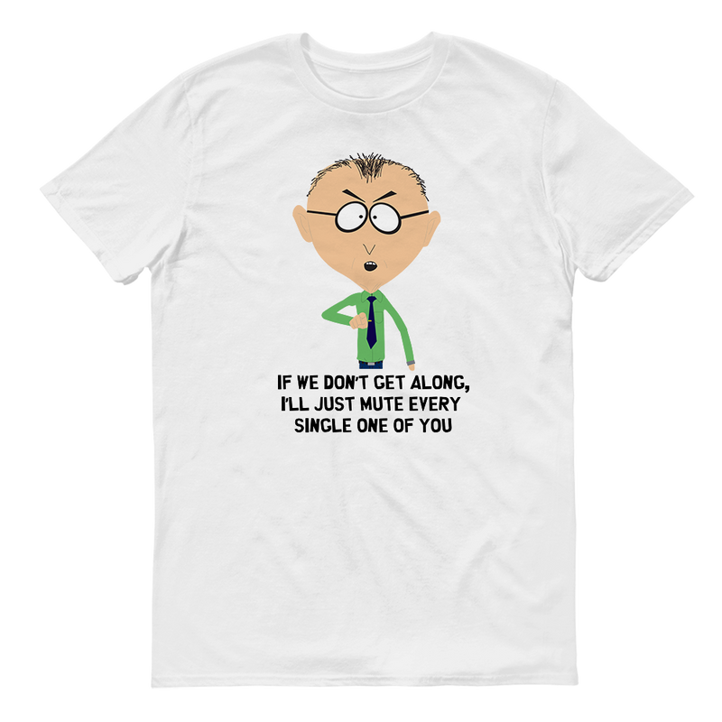 South Park Mr. Mackey Don't Get Along Adult Short Sleeve T-Shirt