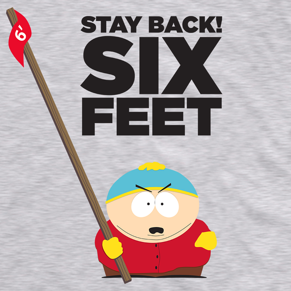 South Park Cartman Stay Back Adult Short Sleeve T-Shirt