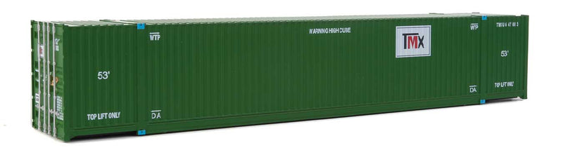 Walthers SceneMaster 949-8539 53' Singamas Corrugated-Side Container - Assembled -- TMX (green, white, black red), HO