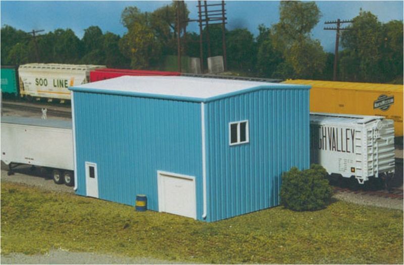 Rix Products- 5410016  YARD OFFICE Blue, HO