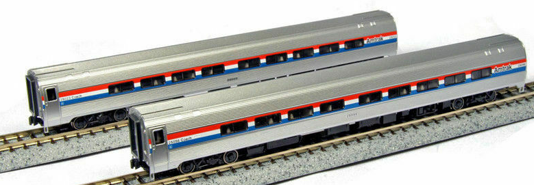 Kato 1066291 Amtrak Amfleet Phase III 2-Car Set A, N Scale