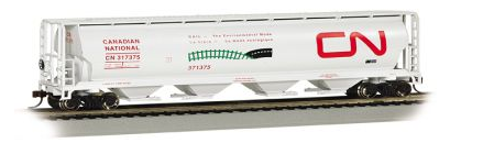 Bachmann 19132 CN Environmental Mode - 4 Bay Cylindrical Grain Hopper, HO