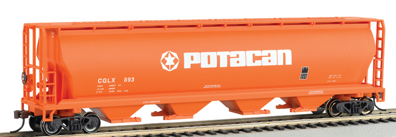 Bachmann 19141 POTACAN - 4 Bay Cylindrical Grain Hopper, HO