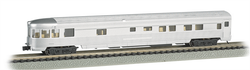 Bachmann 14554  85'STREAMLINE Observation Undecorated, N Scale
