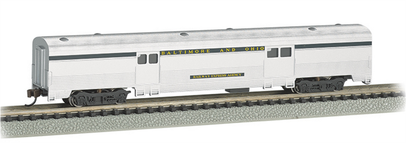 Bachmann 14653  72 FT 2-Door Baggage car B&O, N Scale