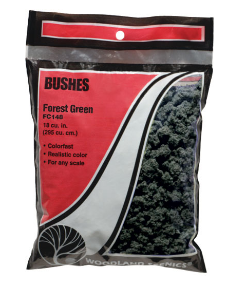 Woodland Scenics 148 Bushes Forest Green Bag