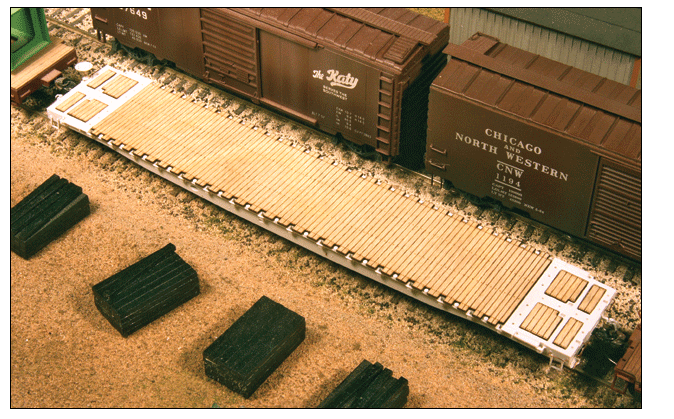 American Model Builders 152-200 Wood Deck Set for Tangent GSC 60' Flatcar (Early) - Laser-Cut Wood Kit, HO