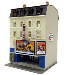 Model Power 1593  Good View Movie Theater, Kit, N Scale