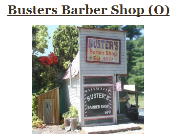 Bar Mills 164 Busters Barber Shop, O Scale