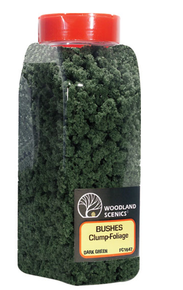 Woodland Scenics 1647 Bushes Dark Green Shaker 32oz