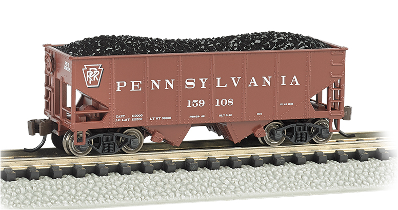 Bachmann 19551 USRA 55 Ton 2-Bay Hopper, Pennsylvania (Tuscan red), N Scale