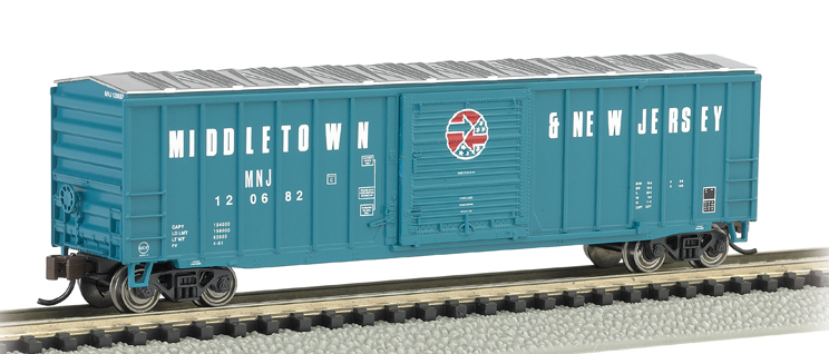 Bachmann 19653 Middletown & New Jersey - ACF 50.5' Outside Braced Box Car, N Scale