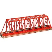 "Kato N Scale Unitrack 20430 - 248mm (9 3/4"") Single Track Truss Bridge, Red"