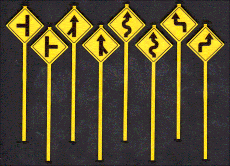 Titchy Train Group 2078 O ASSORTED WARNING SIGNS 48pcs