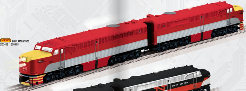 PREORDER Lionel 2133400 M-K-T LEGACY PA AA Set