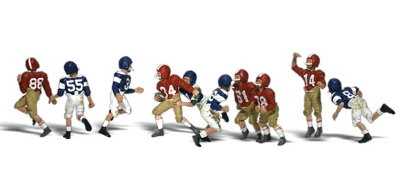 Woodland Scenics 2169 Youth Football Players - N Scale