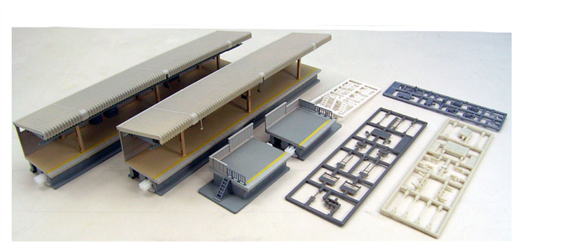 Kato USA 23121 One-Sided Flag Stop Platform Set (type 2), N Scale
