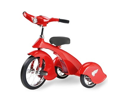 Morgan Cycle 31201 Retro Style Red Bird Steel Tricycle