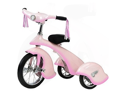 Morgan Cycle 31206 Retro Style Pink Fairy Steel Tricycle