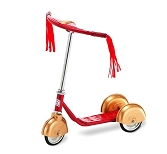 Morgan Cycle 31216RG Retro Style 3 Wheel Scooter RED/GOLD