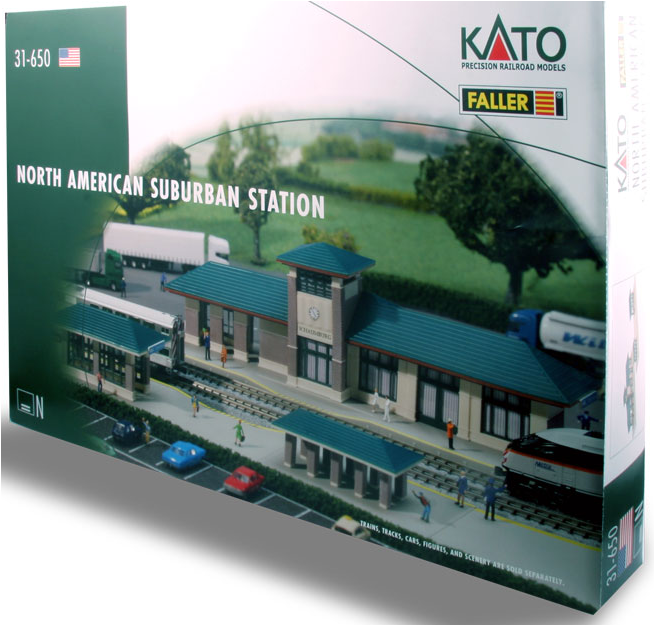Kato USA 31650 North American Suburban Station, N Scale