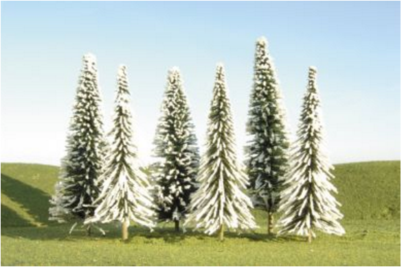 "Bachmann 32202  8"" - 10"" Pine Trees with Snow"