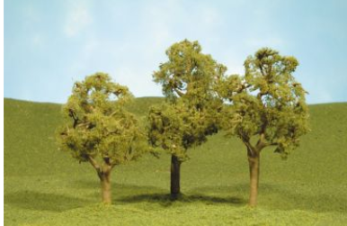 "Bachmann 32208  SceneScapes Layout-Ready Trees -- Elm Trees 5-1/2"" pkg(2)"