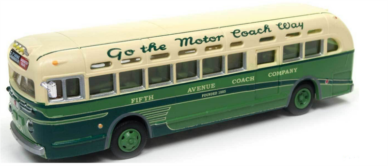 Classic Metal Works 32311 GMC TDH3610 Transit Bus - Fifth Ave. Coach Company (2-Tone Green, cream, Sign: 5th Ave-Riverside-Wash, HO