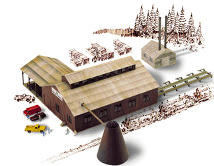 Walthers 933-3236  Kit, Mountain Lumber Co. Sawmill,  N Scale