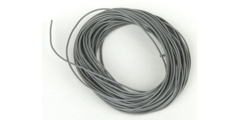 Train Control Systems TCS1226 32 Gauge Wire 20'  6.1m Roll -- Gray