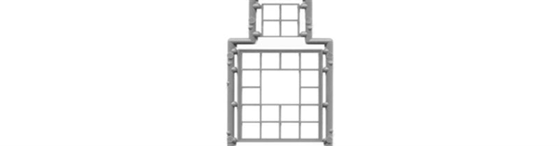 "Tichy Train Group 3519 Industrial Window w/Glazing & 4-Pane Tilt-Out Section -- 20 Panes, 64 x 84"" (1.2 x 1.325"" Opening) pkg(3), S Scale"