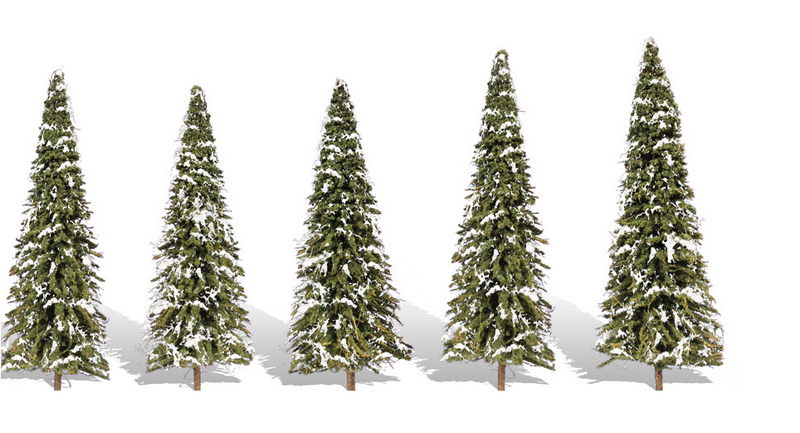 Woodland Scenics 3567 Snow Dusted - 5/Pkg, 2.5-4'