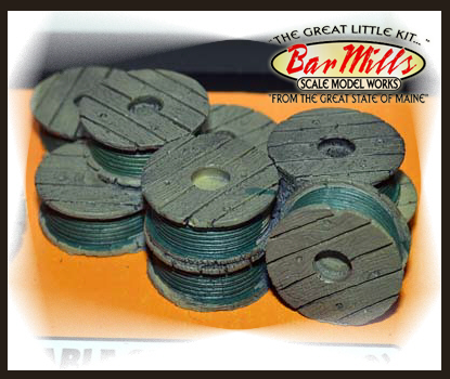 Bar Mills 4014 Cable Spools V2, O Scale