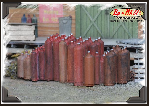 Bar Mills 4025 Acetylene Tanks, O Scale