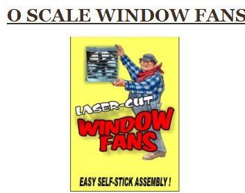 Bar Mills 4034 WINDOW FANS, O Scale