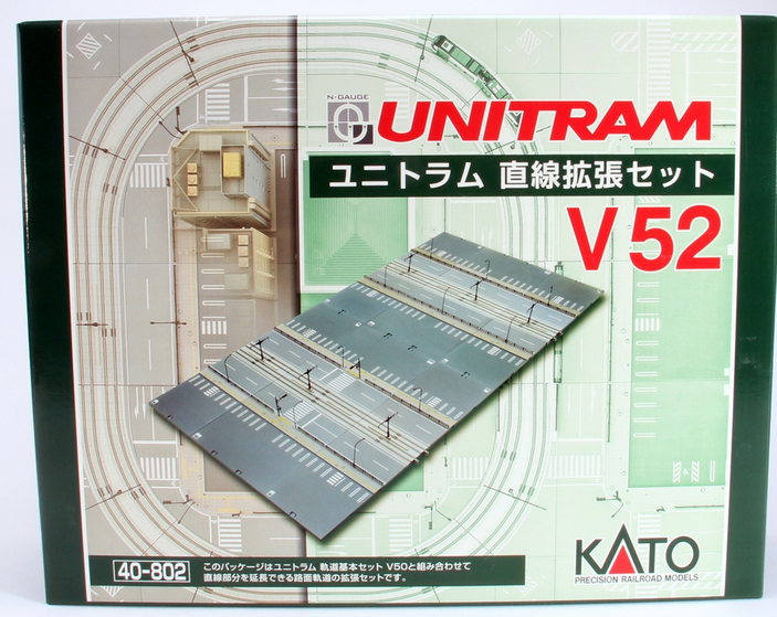 Kato USA 40802 V52 Double-Wide Straight Track Expansion Set, N Scale