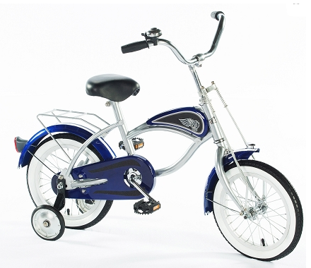 "Morgan Cycle 41115 14"" Cruiser Bicycle with Training Wheels BLUE"