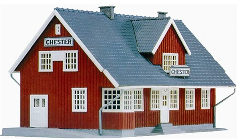 "Model Power MDP454 ""CHESTER STATION"" Kit, HO Scale"