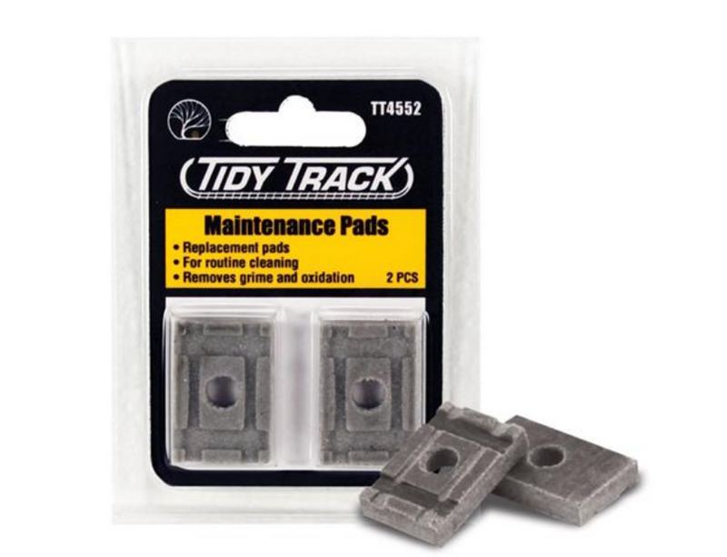 Woodland Scenics TT4552 Tidy Track Maintenance  Replacement Pads For Rail Tracker, HO/N Scale