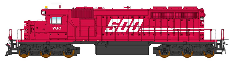PREORDER InterMountain 49373S-01 SD40-2 W/DCC & Sound, SOO-Red Repaint
