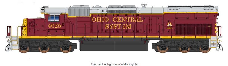 PREORDER InterMountain 49428(S)-01 SD40T-2 W/DCC & Sound, Ohio Central