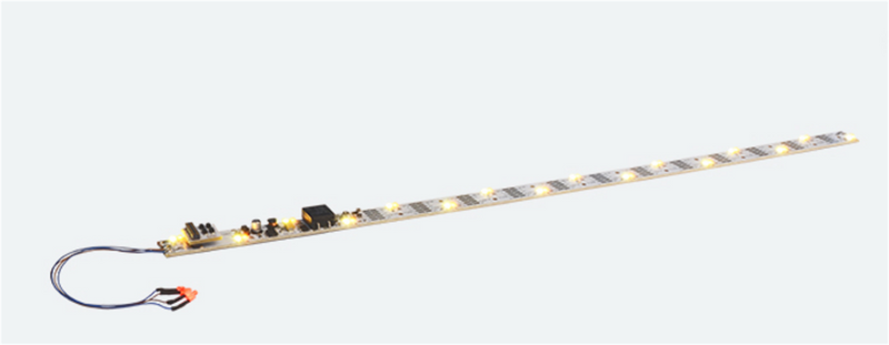 LokSound By ESU 397-50703  LED lighting strip with taillight, 380mm, 32 LEDs, white/yellow, PowerPack, G Scale